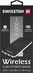 Swissten powerbanka USB-C 8000 mAh, černá