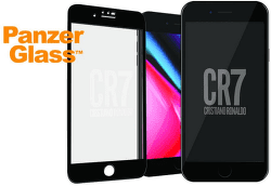 PanzerGlass CR7 tvrzené sklo pro iPhone 8/7, černá