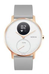 Nokia Steel HR 36mm růžovo-zlaté s šedým řemínkem vystavený kus splnou zárukou