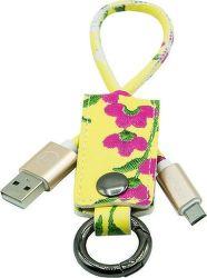 Mizoo K2-03m MicroUSB-USB klíčenka, žlutá