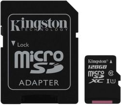 Kingston microSDXC Canvas Select 128 GB UHS-I + SD adaptér