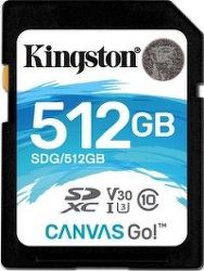 Kingston SDXC 512 GB Canvas Go UHS-I U3