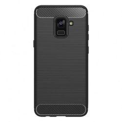 Winner Carbon pouzdro pro Galaxy A8 2018, černé