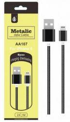 Aligator PLUS AA107 Lightning-USB kabel 1m černý