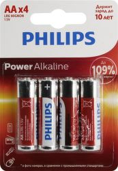 Philips Alkaline Power LR6P4F/10 4x AA