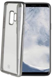 Celly Laser pouzdro pro Samsung Galaxy S9, stříbrná