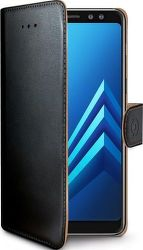 Celly Wally knížkové pouzdro pro Samsung Galaxy A8 2018, černá