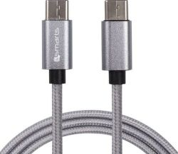 4smarts RapidCord USB-C - USB-C kabel 1m, šedá