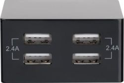 4smarts PowerPlug 4xUSB 24W 2,4 A černá, nabíječka