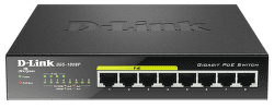 D-Link DGS-1008P - 1Gb 8-LAN switch