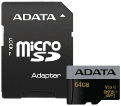 ADATA Premier Pro micro SDXC 64GB UHS-I U3 + adaptér
