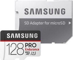 Samsung Micro SDXC Pro Endurance 128 GB 100 MB/s UHS-1 + adaptér
