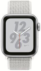 Apple Watch Series 4 Nike+ 40mm stříbrný hliník/sněhově bílý provlékací sportovní řemínek Nike vystavený kus splnou zárukou
