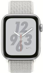 Apple Watch Series 4 Nike+ 44mm stříbrný hliník/sněhově bílý provlékací sportovní řemínek Nike