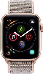 Apple Watch Series 4 44mm zlatý hliník/růžový sportovní provlékací řemínek