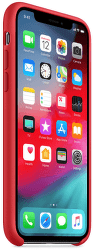 Apple silikonový kryt pro iPhone XS, (PRODUCT)RED