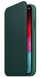 Apple kožené pouzdro Folio pro Apple iPhone XS, piniově zelená