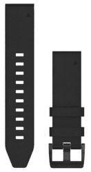 Garmin QuickFit 22 kožený řemínek, černý