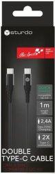 Sturdo datový kabel USB-C/USB-C 1 m černý