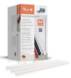 Peach PB4120-01 A4 12mm 1000 ks bílé hřebeny na vázání