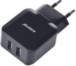 Aligator 2x USB nabíječka Turbo charge + Micro USB kabel, černá