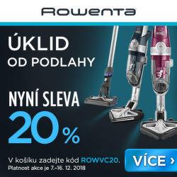 Sleva 20 % na vybrané produkty Rowenta