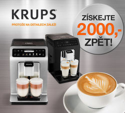 Cashback 2 000 Kč na kávovary Krups