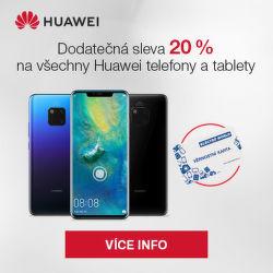 Dodatečná 20 % sleva mobily a tablety Huawei