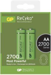 GP ReCyko+  HR6 (AA) 2700 mAh, 2 ks - nabíjitelné baterie