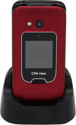 Mobilní telefon CPA Halo 15 červený s nabíjecím stojánkem