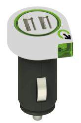 Q2 Power Dual USB autonabíječka, bílá