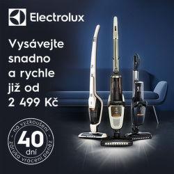 Záruka vrácení peněz 40 dní na tyčové vysavače Electrolux