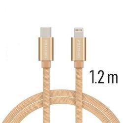 Swissten datový kabel USB-C/Lightning 1,2 m zlatý