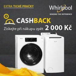 Cashback 2 000 Kč na pračky Whirlpool se ZEN motorem