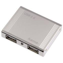 Hama Alu mini USB 2.0 Hub 1:4 78498 stříbrný