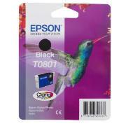 Epson T0801 black (kolibrík) - inkoustová náplň
