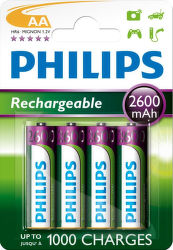 Philips Rechargeable - AA (HR6) 2600 mAh 4 ks