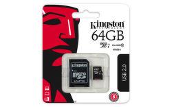 Kingston 64 GB Micro-SDXC UHS-I Class 10