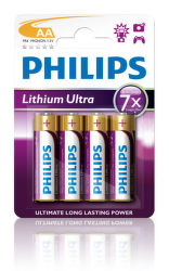 Philips Lithium Ultra AA (FR6), 4ks