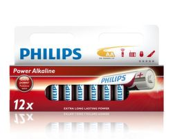 Philips Power Alkaline AA (LR6), 12ks
