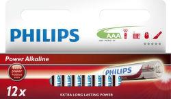 Philips Power Alkaline AAA (LR03), 12ks