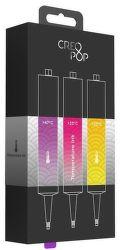 CreoPop Temperature Ink: Magenta-Transp., Rose-Transp., Orange-Yellow - 3D náplň