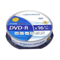 Esperanza DVD-R 4,7GB X16 10ks