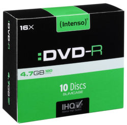 Intenso DVD-R, 4101652, 10-pack, 4.7GB, 16x, slim case