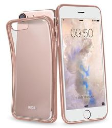 SBS pouzdro pro iPhone 7 (transparent růžovo zlatý)