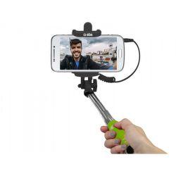 SBS mini selfie tyč s 3,5 mm konektorem 50 cm, žlutá