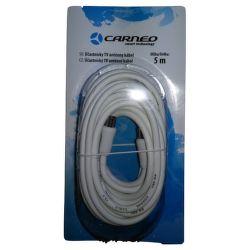 Carneo anténní kabel 5m bíly