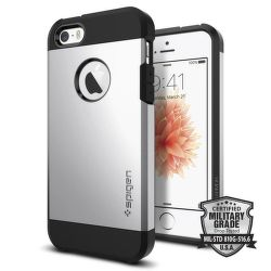 Spigen iPhone 5/5S/SE Case Tough Armor, stříbrná