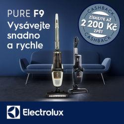 Cashback 2 200 Kč na vysavače Electrolux Pure F9