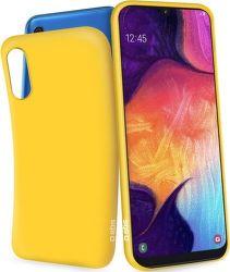 SBS gumové pouzdro pro Samsung Galaxy A50, žlutá